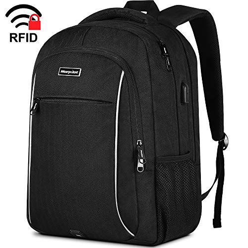 Business Travel Backpack, Extra Large School Laptop Backpack with USB Charging Port for Men Womens, Anti Theft Water Resistant College Bookbag Computer Bag Fits 17 Inch Laptop Notebook