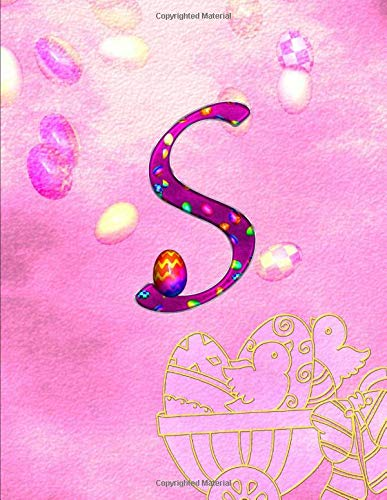 S. Monogram Initial Letter S Cover. Blank Lined College Ruled Notebook Journal Planner Diary.