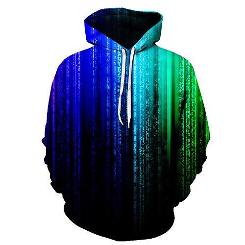Men Hoodies Pullovers Long Sleeve Streetwear Casual 3D Print Sweat Jacket Sweatshirts Jumper with Pockets Drawstring Long Sleeves Hooded Sweater 2020 Autumn Winter New Warm Sports Tops M