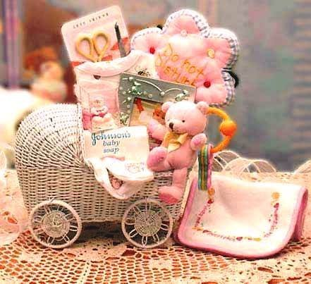 Baby Carriage New Baby Gift Set -Teal...