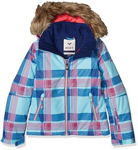 Roxy - Jet Ski Girl - Veste de ski - OUTERWEAR - Fille - Bleu (Azul - Daya Plaid Blue Radiance) - FR : 12 ans (Taille Fabricant : 12/L)