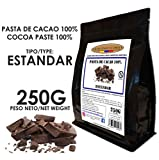 Cacao Venezuela Delta - Chocolate Negro Puro 100% · Tipo Estándar (Pasta, Masa, Licor De Cacao 100%) · 250g