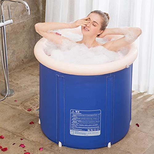 LONGLAN Badewanne Badefass Faltbadewanne für Erwachsene PPBathtub Tragbares aufblasbares faltbares Plastikfaß Großer Erwachsener