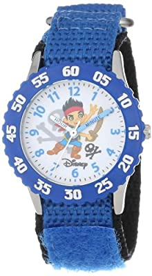 """Disney Kids' W000381 """"Time Teacher"""" Jake and the Neverland Pirates Stainless Steel Watch"""