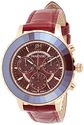 Swarovski Damen-Uhren Analog Quarz One Size Beere 32014282