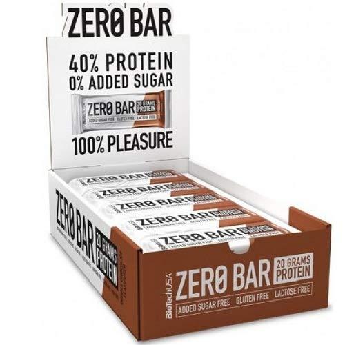 Biotech USA - Barretta Zero Bar - 20 x 50g - Doppio Cioccolato