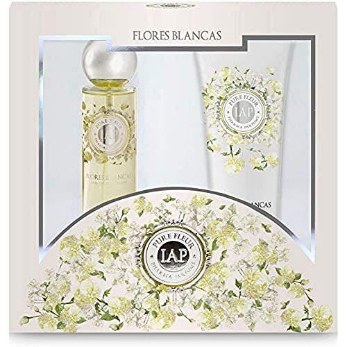 iap PHARMA PARFUMS Estuche - Perfume Pure Fleur 150 ml y Body Milk Flores Blancas 230 ml