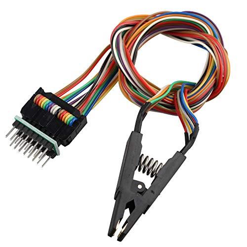 HALJIA SOP16 IC Clip de prueba SOP16 a DIP8 Flash Test Clip BIOS Programador adecuado para 25 Series Chips cuerpo universal sin desmontar Programación Clip Test Clamp
