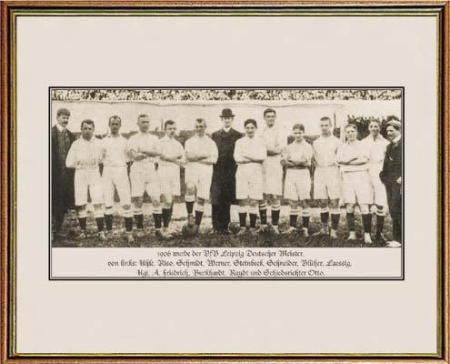 World of Football Fotorahmen Leipzig DT. Meister 1906
