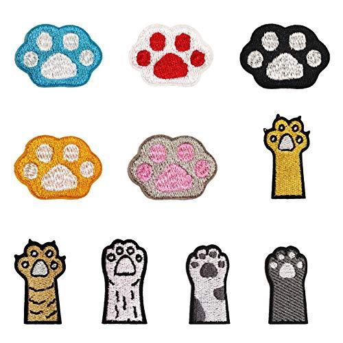 RICISUNG ワッペン 動物ワッペン 10枚セット アイロン 刺繍ワッペン 子供用 可愛い 刺しゅうパッチ 保育園 幼稚園 修補 アップリケ