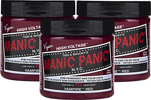 Manic Panic High Voltage Classic Cream Formula Semi-Permanente Haarfarbe 118ml (Vampire Red)