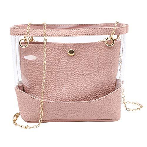 COZOCO Frauen arbeiten Dame Shoulder Bags Jelly Package Hasp-Handtaschen-Geldbeutel-Handykurierbeutel um(rosa)