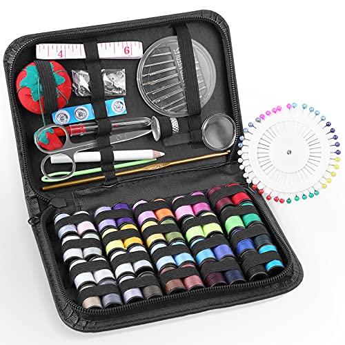 Uten Kit de Costura de viaje profesional con 130 accesorios de costura,...