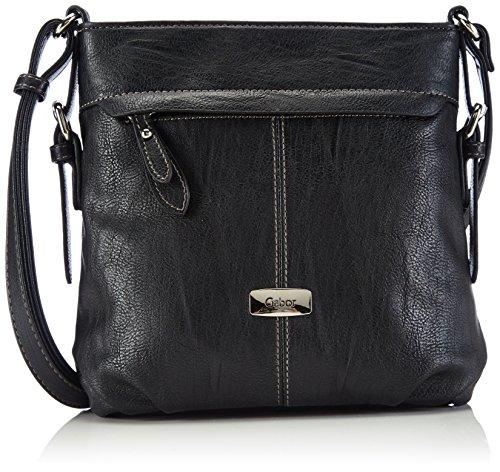 Gabor Umhängetasche Damen Lisa, (schwarz 60), 23x24x10 cm, Gabor Handtasche Damen