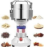 Moongiantgo Mulino Elettrico per Cereali 300g Acciaio Inossidabile, 1500W 28000RPM Motore Commerciale & Rettifica Superfine 30s, Protezione da Sovraccarico & Open-Cover-Stop, Per Grano, Spezie, Ecc.