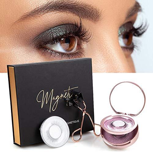 niyin204 Magnetic Eyelashes Curler Set 3 Pairs No Glue Needed Soft Magnetic False Eyelashes with Eyelash Tweeze for Women