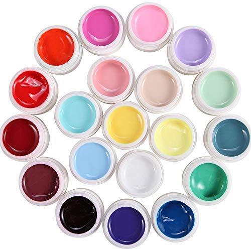 Beito 36 Farben UV Gel Farbgel Set Nagelgel Pure Color Nailart DIY Wunderschöne Trend