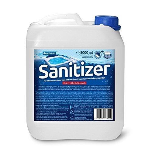 depotmed® Sanitizer für Whirlpooldesinfektion Reinigung - 5 Liter Whirlpooldesinfektionsmittel Whirlpool Hygiene