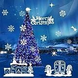 Natale Adesivi Display Rimovibile Natale Addobbi Murali Fai da te Finestra Decorazione Vetrina Adesivi e murali da parete Sticker decorativi (2fogli X 25 * 70cm) (B)
