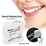 ZHONGXIN Tiras De Pulido Dental, Caja Blanqueadores De Dientes Tira De Pulido Dental 4mm Blanqueamiento Dental Superficie Y Diente Interdental (Blue)