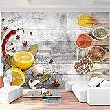Fototapete Küche 3D Effekt 396 x 280 cm - Vlies Wand Tapete Wohnzimmer Schlafzimmer Büro Flur Dekoration Wandbilder XXL Moderne Wanddeko - 100% MADE IN GERMANY - 9424012b