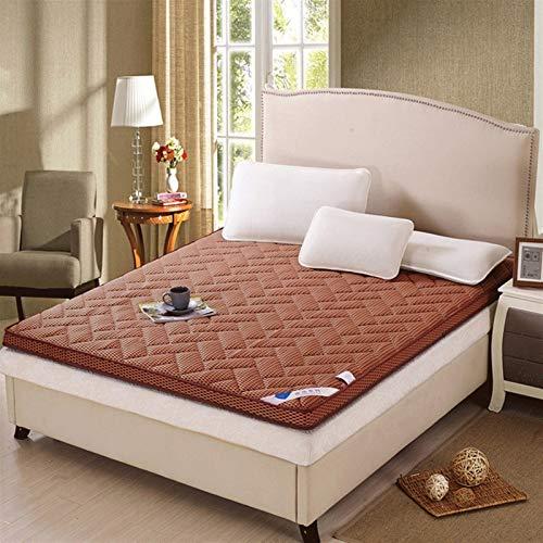 dongyu Colchón de fibra de bambú plegable de masaje Tatami colchón de espuma viscoelástica para el hogar, muebles de cama transpirable, futón Tatami colchón suave (tamaño: 120 x 190 cm, color: C)