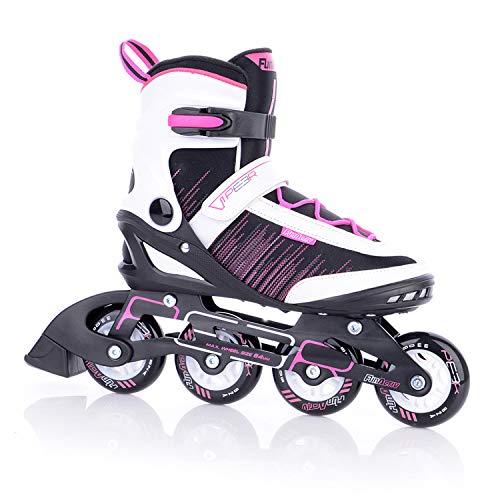 FUNAKTIVE Damen Fitness Inlineskates Peer Lady 3 by Tempish I 6 Größen I komfortable Skates I leichtes Anziehen I schwarz/pink, 39