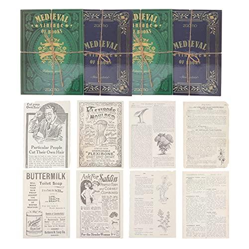 WINOMO 60 Piezas Vintage Scrapbooking DIY Material para Diario Basura Planificador Scrapbooking...
