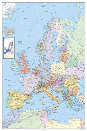 Landkarten - Politische Europakarte - Maßstab: 1/6,75Mio. Plakat Poster Druck - Grösse cm