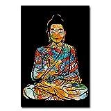 cutby Bunte Drachen Tattoo Buddha Zazen Religion Wandkunst