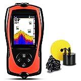 Localizador de peces FF1108-1C & FF1108-1CT Buscador de pescado portátil para la pesca con hielo Profundidad de la pesca SONAR SONUNDER Alarma impermeable Echo Sondeder Sonar Pescado alta sensibilidad