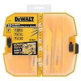 DEWALT DW4890 15-Piece Reciprocating Saw Blade Tough Case Set