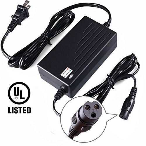 LotFancy 36V 1.5A Battery Charger for Razor Mini Pocket, Boreem Jia 601-S 602-D, Minimoto Maxii ATV, Go Kart, Dune Buggy, Motocross XRF500, Freedom 945 959, UL Listed, 8.9FT Cable