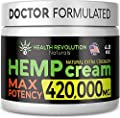 Extra Strength Hemp Cream for Pain Relief – Only 3rd Party Tested Product to Verify Strength/Results. All Natural for Nerve-Sciatic, Muscle, Back Pain & Inflammation, with Arnica, MSM, Emu, Turmeric from Health Revolution
