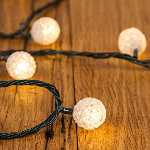 XMASKING Catena 6 m, 40 minisfere Eva, LED Bianco Caldo, con Memory Controller, addobbi Natalizi, Catene luci per Albero di Natale, Decorazione Luminosa