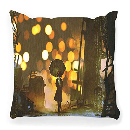 MayBlosom Funda de almohada decorativa cuadrada de 45,7 x 45,7 cm, diseño de reno navideño con texto en inglés 'Merry Christmas', color marrón 51
