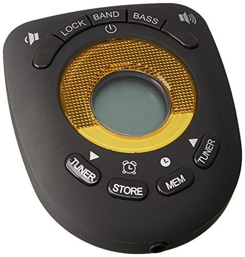 JENSEN Digital AM/FM Stereo Armband Clock Radio Headphone (JENSAB55B), Black, One Size
