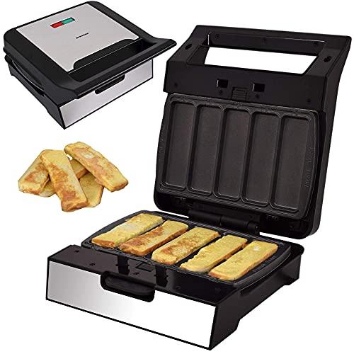 Syntrox Germany French Toast Maker MM-1400W mit herausnehmbaren Backplatten