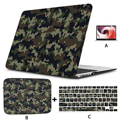 Macbook 15 Case Classic Clothing Masking Camo Macbook Pro 15 Accessories Hard Shell Mac Air 11'/13' Pro 13'/15'/16' With Notebook Sleeve Bag For Macbook 2008-2020 Version