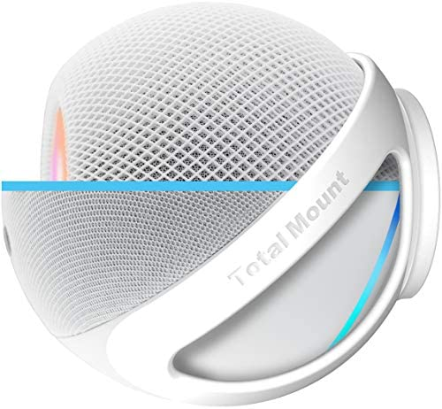 TotalMount Compatible with HomePod Mini Echo Dot 4th Gen and 3 9 Spherical Devices Premium White product image
