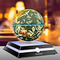 Soditer 磁気浮上 地球儀 6インチフローティンググローブシッティングルーム オフィスデスクトップデコレーション クリエイティビティホリデー(コンステレーションバージョン)