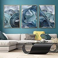 モダン抽象ユニークラインポスターキャンバス絵画壁アートプリント写真リビングルームインテリア家の装飾30x40cmx3pcs非フレーム