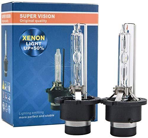 AutoTrends 2pcs D2R HID Bulbs 35W 6000K Diamond White Xenon HID Headlight Bulb