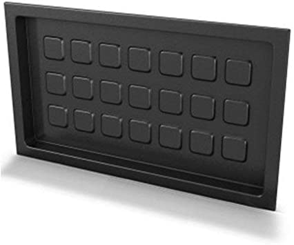 Crawl Space Recessed Foundation Vent Cover Black For 8 X16 Foundation Openings Amazon Com