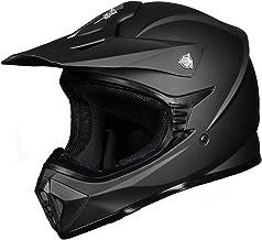 ILM Adult ATV Motocross Dirt Bike Motorcycle BMX MX Downhill Off-Road MTB Mountain Bike Helmet DOT Approved (Matte Black, ...