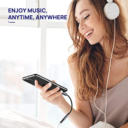 iNassen USB C AUX Kopfhörer Adapter,USB C auf Klinke 3,5mm Audio Headphone Adapter für Samsung Galaxy Note20/20 Ultra 5G/Note10+/S20/S20Ultra, Pixel 4XL, Huawei P40 P30 P20+/Mate30+/20+/10+, Oneplus7