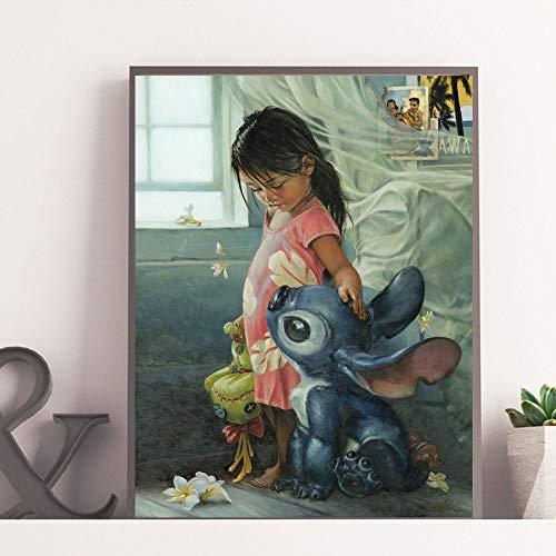 LPaWD Realismo Arte Abstracto de la Pared Cartel de la Lona e impresión Pintura al óleo Decoración de la Sala Pintura Arte A1 50x70cm