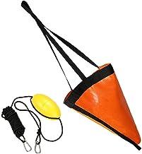 Drift Socks Fishing Boei 24 Inch Zee Boot Stabilisatieparachutes Voor Lake River Ocean Verankering Trolling Bag Orange 2stuk