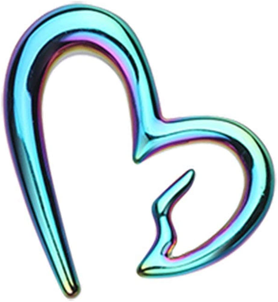 Covet Jewelry Colorline Heartbreaker Ear Gauge Hanging Taper
