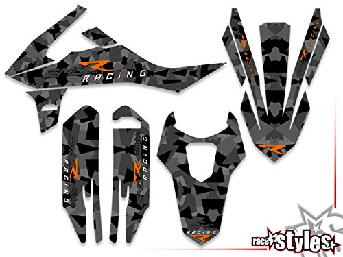 CAMO Grey matt SMC R 690 2019 | Factory DEKOR Decals KIT Aufkleber Graphics